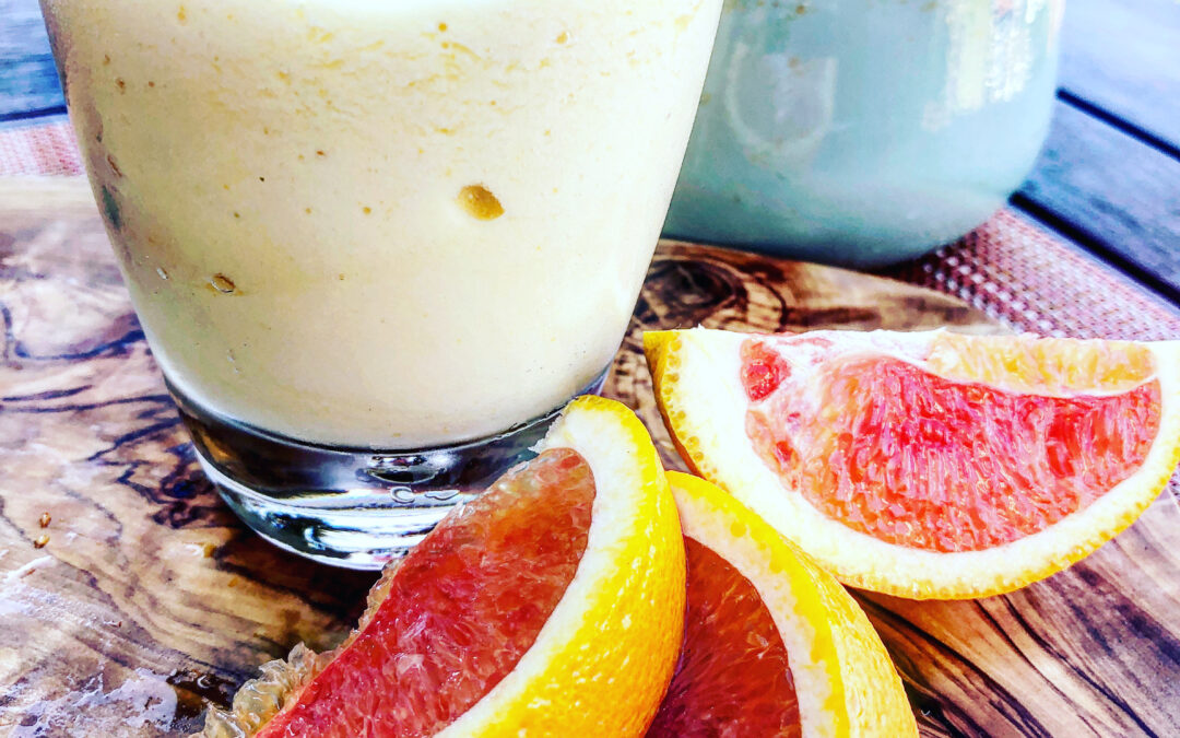 Orange Creamsicle Smoothie with Sneaky Vegetables