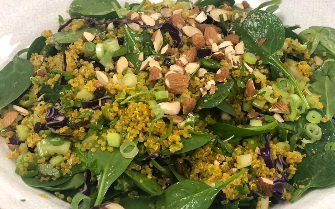 Spiced Quinoa Salad with Citrus Vinaigrette